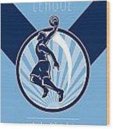 Amateur Basketball League Retro Poster Wood Print by Aloysius Patrimonio