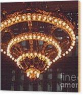 Amazing Art Nouveau Antique Chandelier - Grand Central Station New York Wood Print