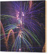 Amazing Beautiful Fireworks Wood Print