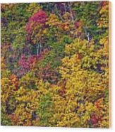 Amazing Cloudland In The Fall Wood Print