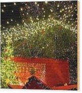 Amazing Christmas Lights Wood Print