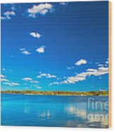 Amazing Clear Lake Under Blue Sunny Sky Wood Print
