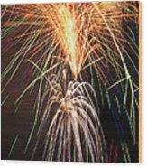 Amazing Fireworks Wood Print