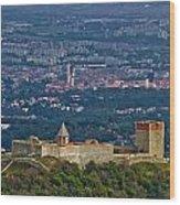Amazing Medvedgrad Castle And Croatian Capital Zagreb Wood Print