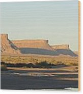 Amazing Mesa's Wood Print by Diane Mitchell
