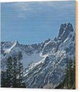 Amazing Peaks Wood Print by Christine Burdine