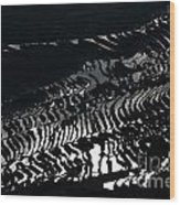 Amazing Rice Terrace In Black And White Wood Print