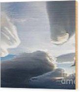 Amazing Skies Over Puerto Natales Chile Wood Print