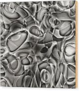 Amazing World Of Cells - Black And White Wood Print