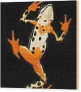 Amazon Harlequin Toad Wood Print
