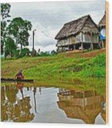 Amazon River Reflections-peru  Wood Print