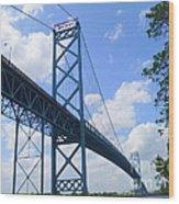 Ambassador Bridge Wood Print