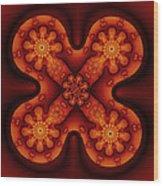 Amber Cross Wood Print