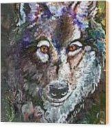 Amber Eyes Wood Print