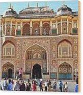 Amber Fort Entrance To Living Quarters - Jaipur India Wood Print