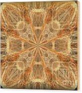 Amber Fractal Wood Print