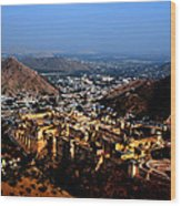 Amber Palace - Jaipur- Rajasthan- Viator's Agonism Wood Print by Vijinder Singh