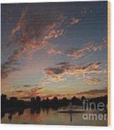 Amber Skys Ll Wood Print