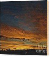Amber Skys Six Wood Print