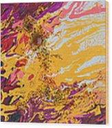 Amber Sun Wood Print