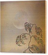 Amber Vision Wood Print by Bedros Awak