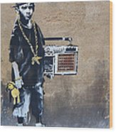 Ambivalence Banksy Wood Print