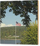 Ameican Flag Wood Print