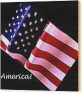 America Greeting Card Wood Print