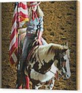 America -- Rodeo-style Wood Print