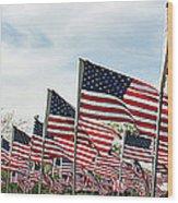 America Salute Wood Print