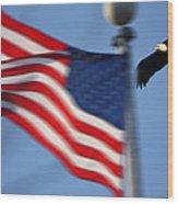 America Soaring Wood Print