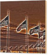 America Still Stands Wood Print