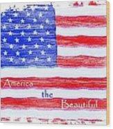 America The Beautiful Wood Print by Robert ONeil