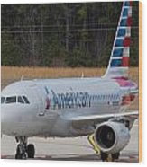 American Airlines A319 Wood Print