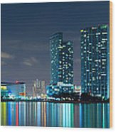 American Airlines Arena And Condominiums Wood Print