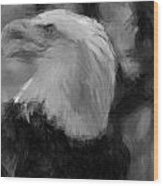American Bald Eagle V4 Wood Print
