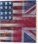 American British Flag Wood Print by Garry Gay