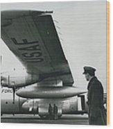 American C.130 E. Aircraft - Demonstrated For Air Force Wood Print