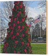 American Christmas Wood Print