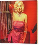 American Cinema Icons - Norma Jean Wood Print