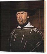 American Cinema Icons - The Man With No Name Wood Print