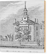 American Courthouse, 1844 Wood Print