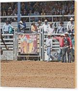 American Cowboy Bucking Rodeo Bronc Wood Print
