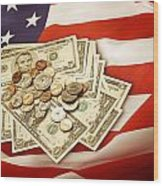 American Currency  Wood Print by Les Cunliffe