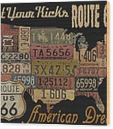 American Dream-route 66 Wood Print