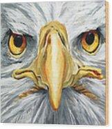 American Eagle - Bald Eagle By Betty Cummings Wood Print by Sharon Cummings