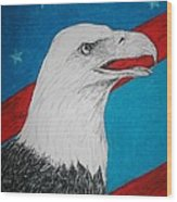 American Eagle Wood Print by Maricay Smeenk