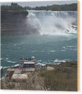 American Falls From Above The Maid Wood Print