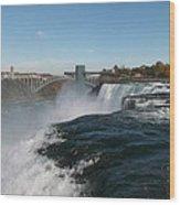 American Falls From Luna Island Wood Print