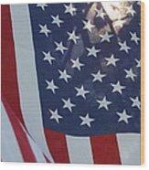 American Flag - 01131 Wood Print